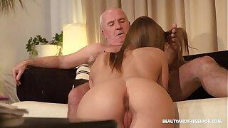 Aged farmer gets horny and fucks his hot niece
