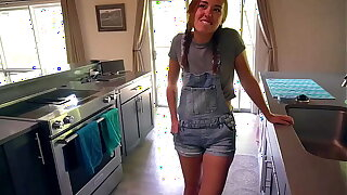 Sexy Young Maid Convinced To Strive Porn Be advisable for 1st Time: BrandiBraids