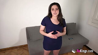 Chubby babe from Madrid gets caught banging her best friend