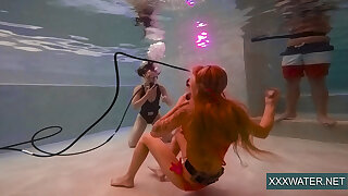 Jane added to Minnie Manga immerse naked in the pool