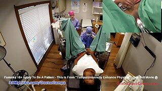 Nikki Stars' New Student Gyno Exam By Doctor From Tampa Primarily Spy Cam