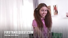 Hot anal sex with the lovely teen beauty Katty West