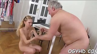 Old hellacious guy fucks young hole