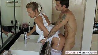 Sexy peaches bride Nicole Aniston fucking