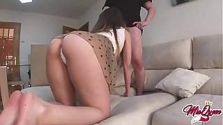 She fucks her best band together to be creampied When her boyfriend is not at home