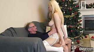 70 year old man fucks 18 year old comprehensive she swallows all his cum