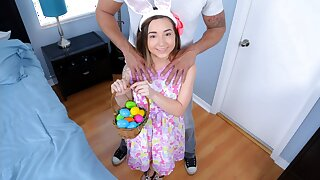 Petite Teen Fucked Off out of one's mind Huge Cock While Easter Egg Hunting