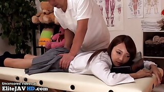 Japanese cute university sweeping massage goes too far