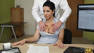 LOAN4K. Crazy sex on the desk in loan office be proper of necessary