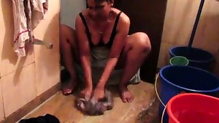 Indian Maid Horny Lily Filmed Naked In Bathroom