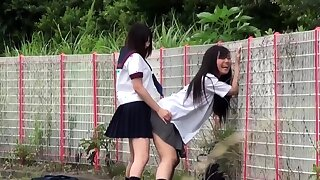Japanese teens pissing